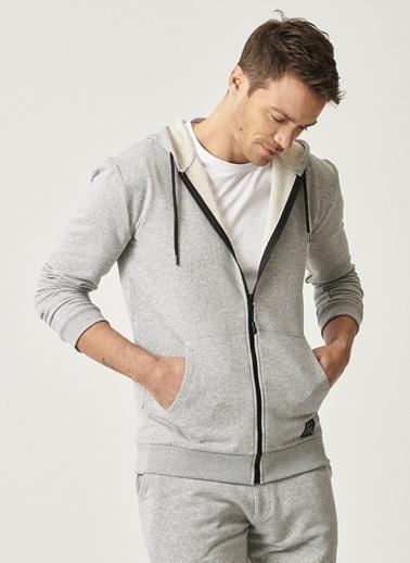 AC&Co / Altınyıldız Classics Slim Fit Günlük Rahat Fermuarlı Spor Sweatshirt 4A5221100043 Gri